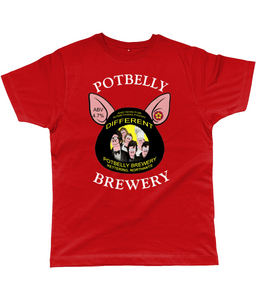 Potbelly Brewery And Now For Something Piggin Different Pump Clip with Wording Classic Cut Men's T-Shirt