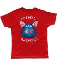 Load image into Gallery viewer, Potbelly Brewery SOS Pump Clip with Wording Classic Cut Men's T-Shirt
