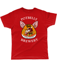 Load image into Gallery viewer, Potbelly Brewery Yeller Belly Pump Clip with Wording Classic Cut Men's T-Shirt