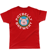 Load image into Gallery viewer, Potbelly Brewery Key Border Pig Circular Text Classic Cut Men's T-Shirt