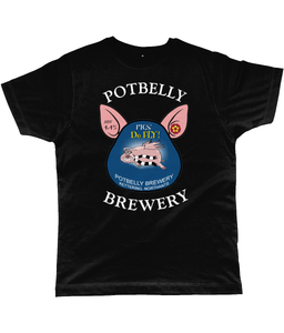 Potbelly Brewery Pigs Do Fly Pump Clip with Wording Classic Cut Men's T-Shirt