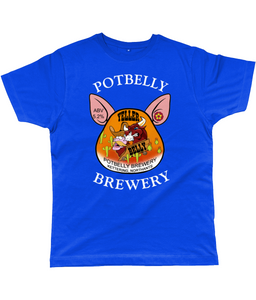 Potbelly Brewery Yeller Belly Pump Clip with Wording Classic Cut Men's T-Shirt