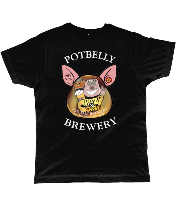 Potbelly Brewery Crazy Daze Pump Clip with Wording Classic Cut Men's T-Shirt