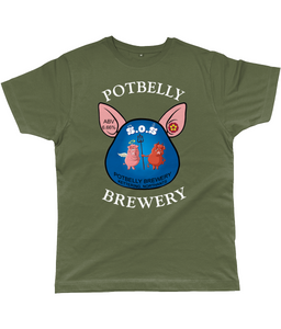 Potbelly Brewery SOS Pump Clip with Wording Classic Cut Men's T-Shirt