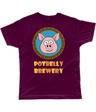 Load image into Gallery viewer, Potbelly Brewery Greek Key Border Pig Classic Cut Men's T-Shirt