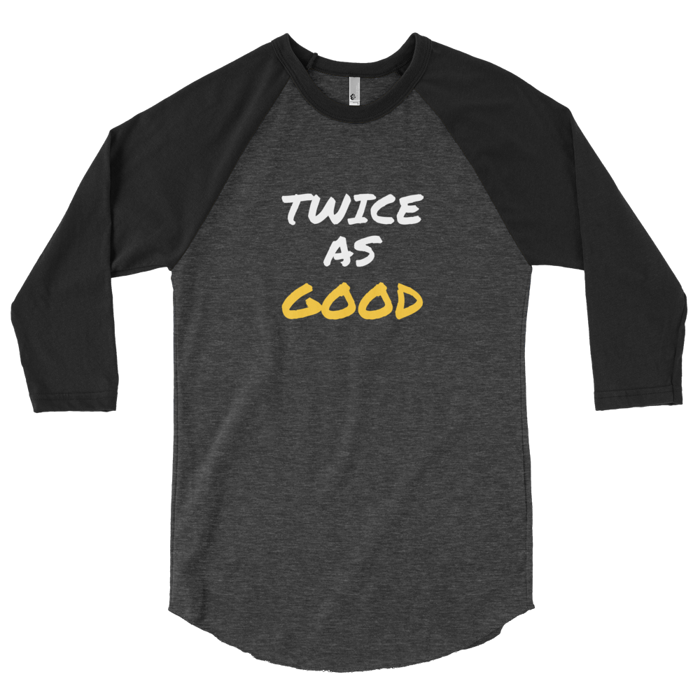OGM Twice As Good 3/4 Shirt 2.0 (Black/White/Gold)