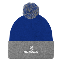 Load image into Gallery viewer, OG Millennial Pom Pom Knit Beanie