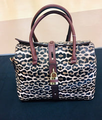 The Bennie Leopard Satchel