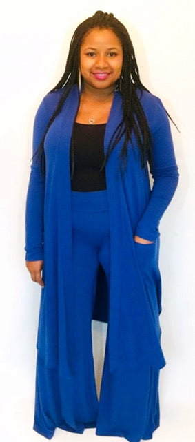 Blue Duster Cardigan