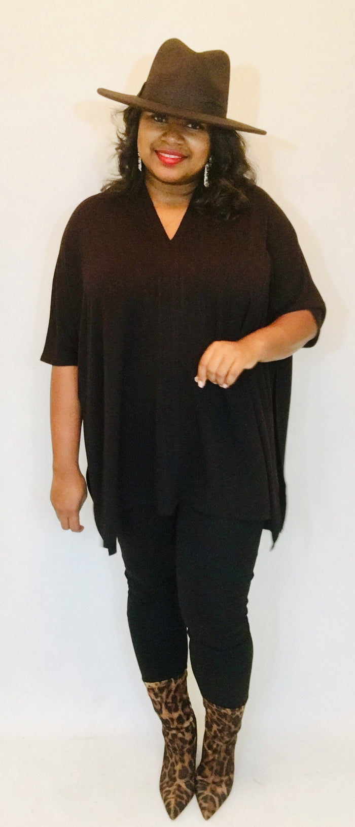 On the Go Poncho Top