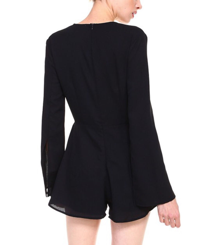 Black Party Romper