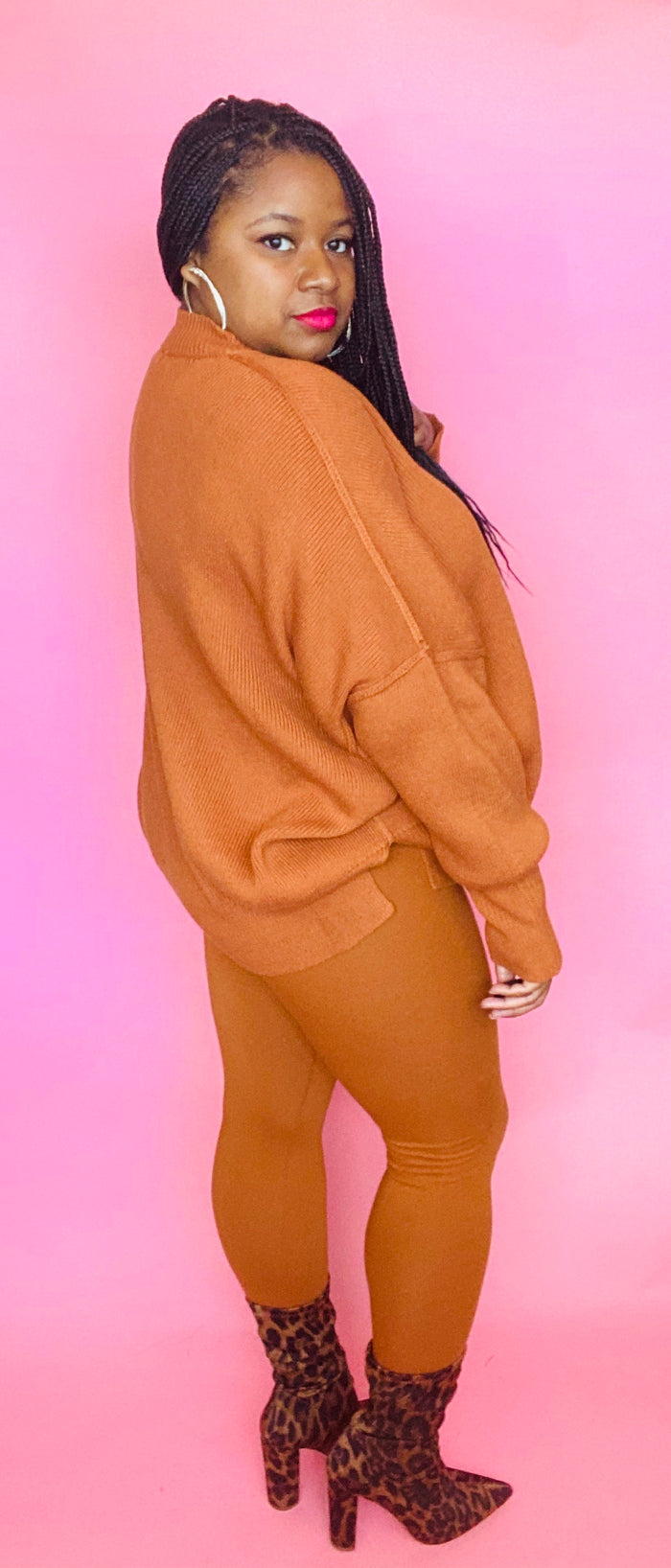 Cozy Sweater Set (Almond)