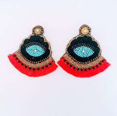 Iris Earrings (Red)