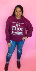 Dior Darling Sweatshirt (Burgundy)
