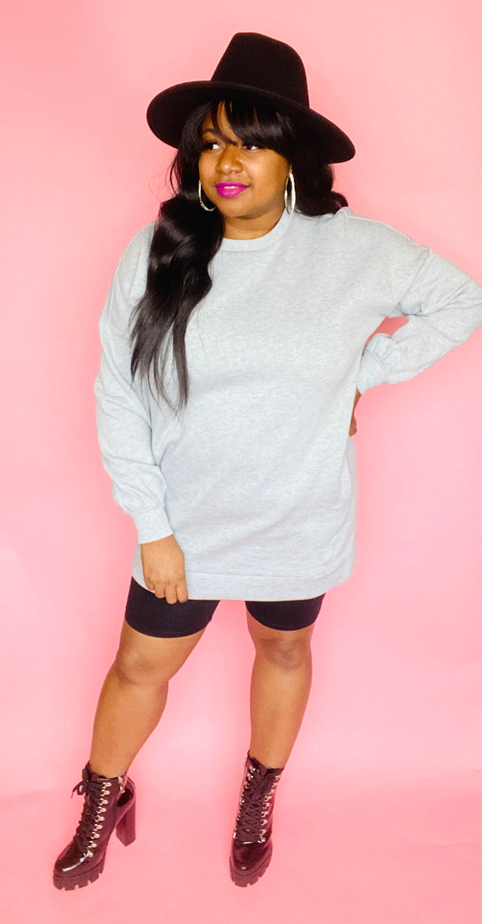 Sweatshirt Dress (Heather Gray)