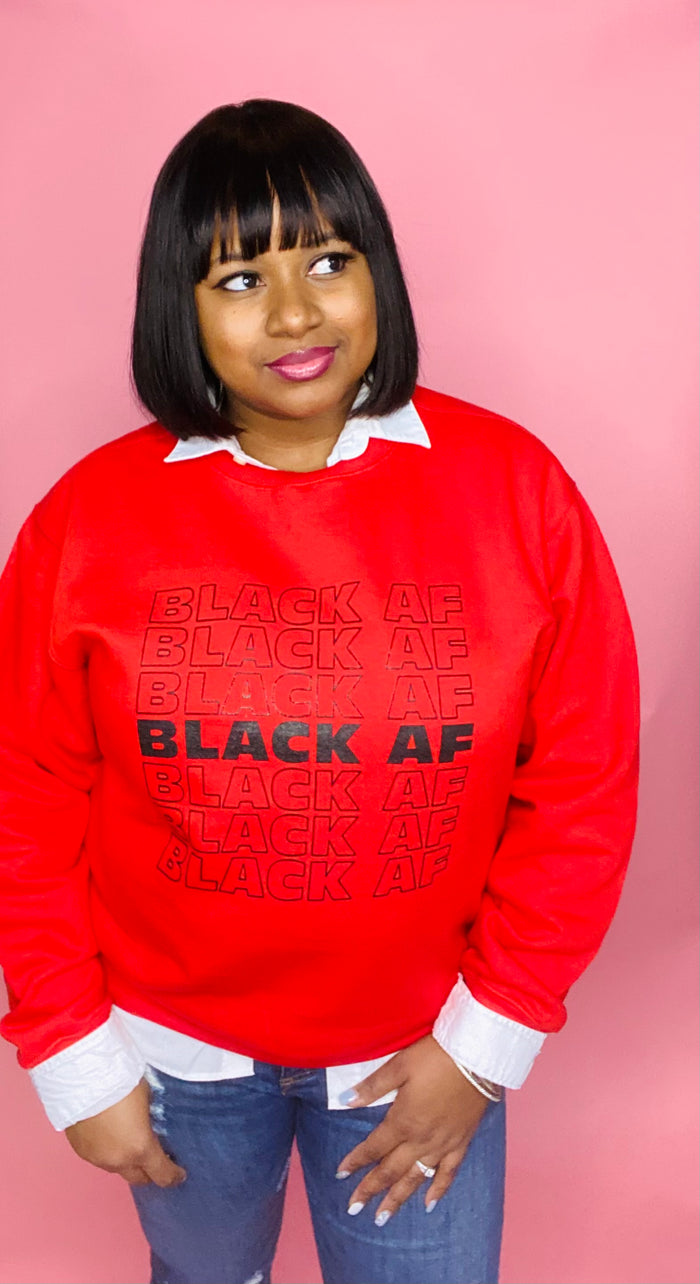 Black AF Sweatshirt (Red)
