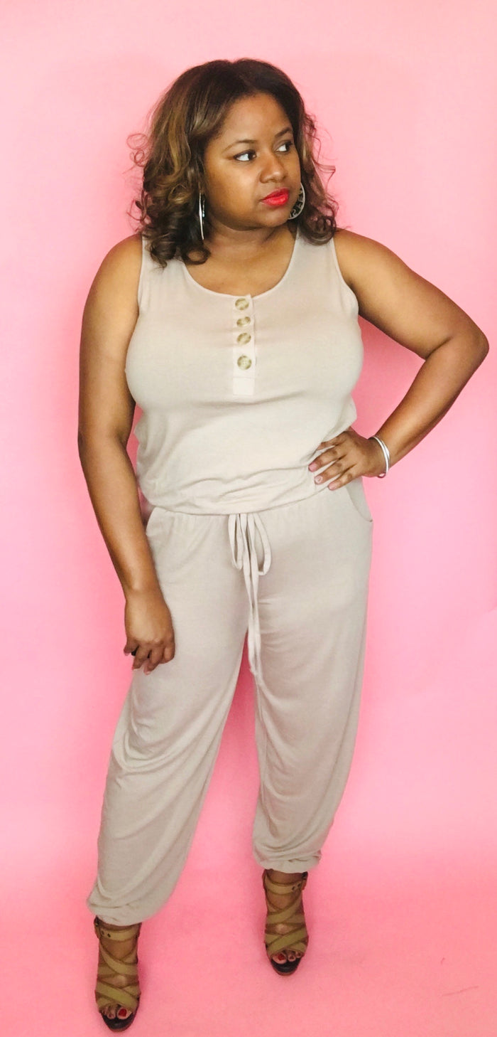 Jogger Jumpsuit (Muted Mocha)
