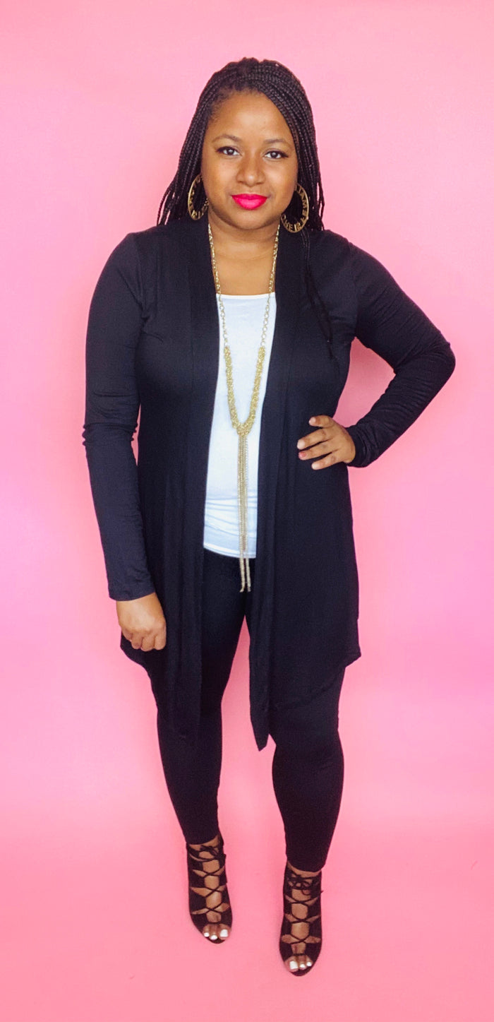 Essential Cardigan (Black)