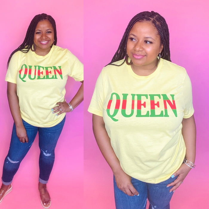 "The ""Cicely"" Queen Tee (Yellow)"