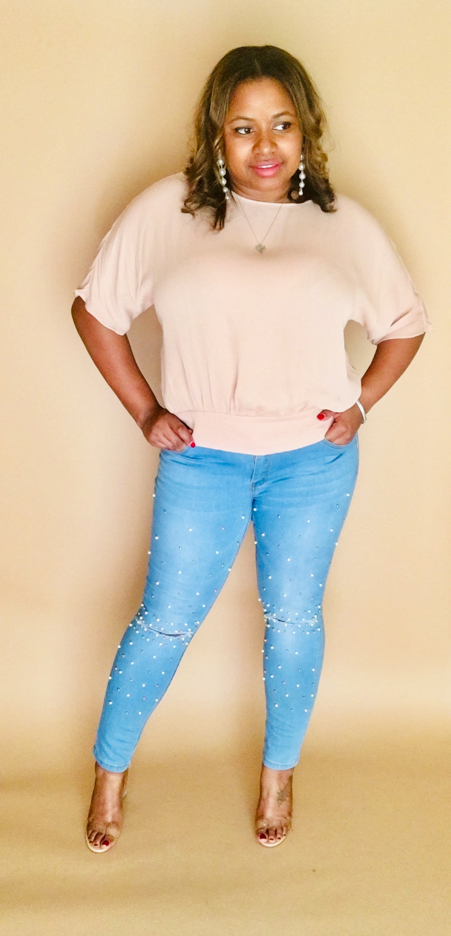 Pearl Distressed Jeans