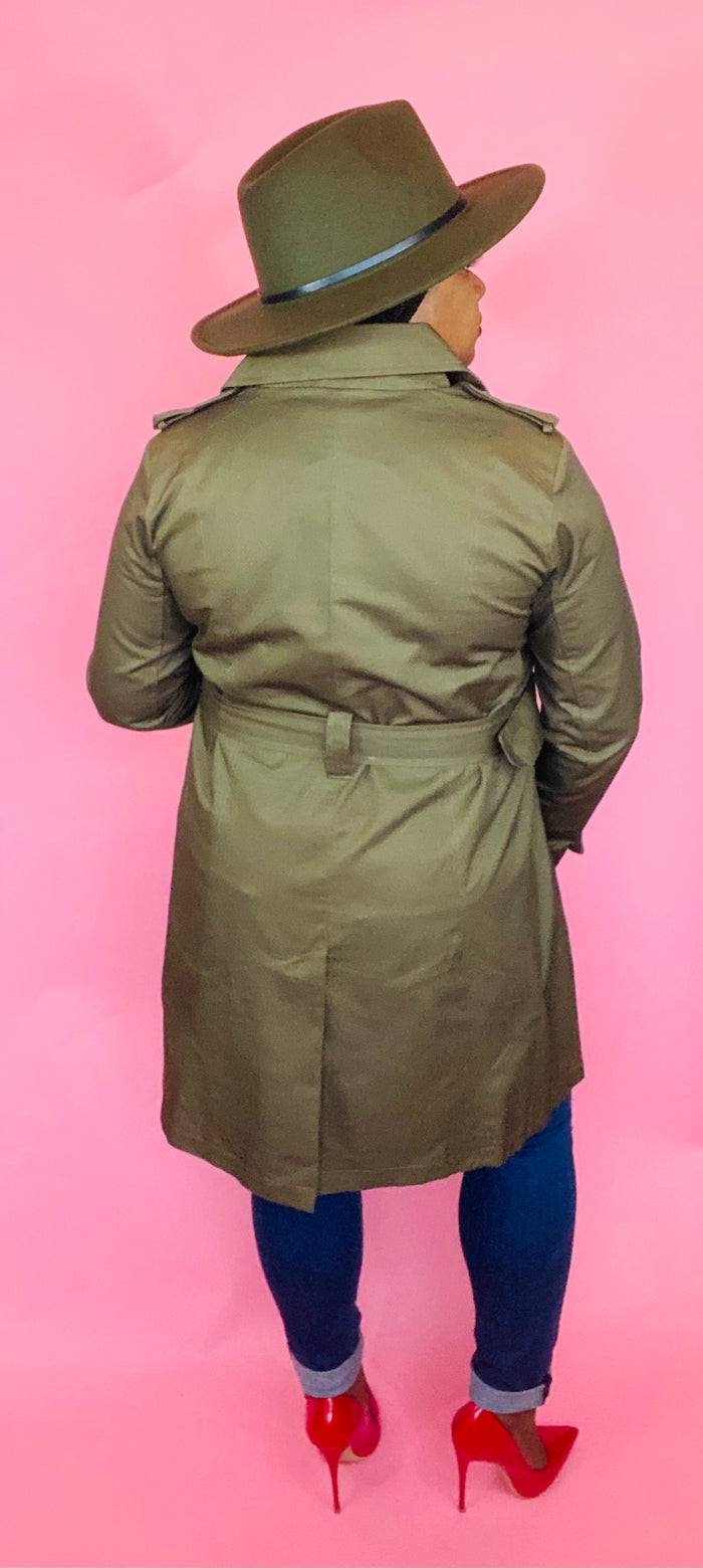 Trench Coat (Olive)