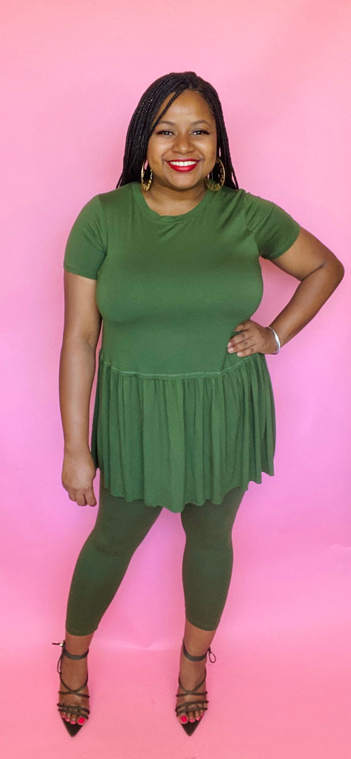 Baby Doll Set (Army Green)
