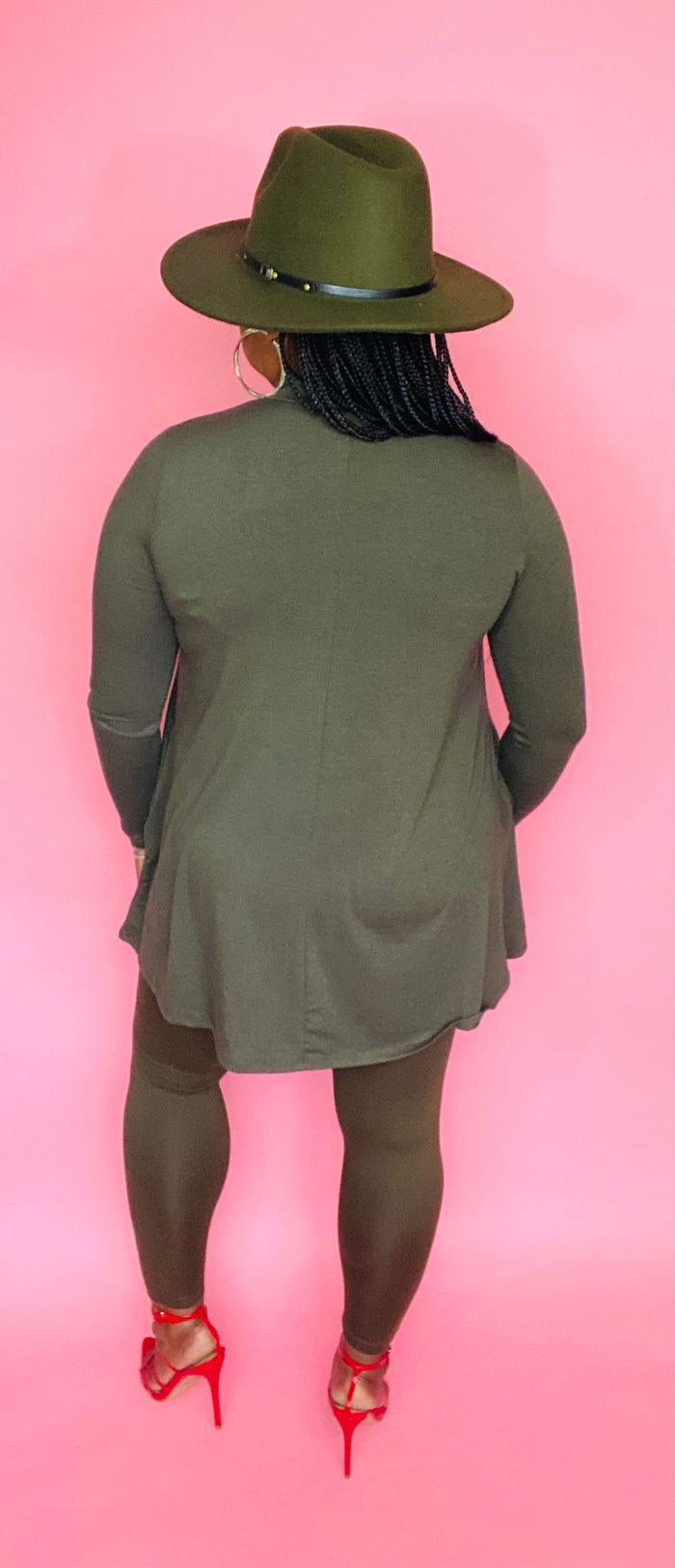 Mock Neck Set (Olive Green)