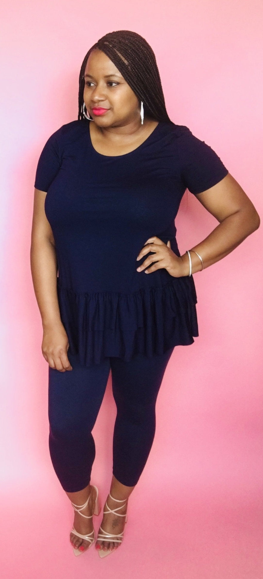 Ruffle Set (Navy)