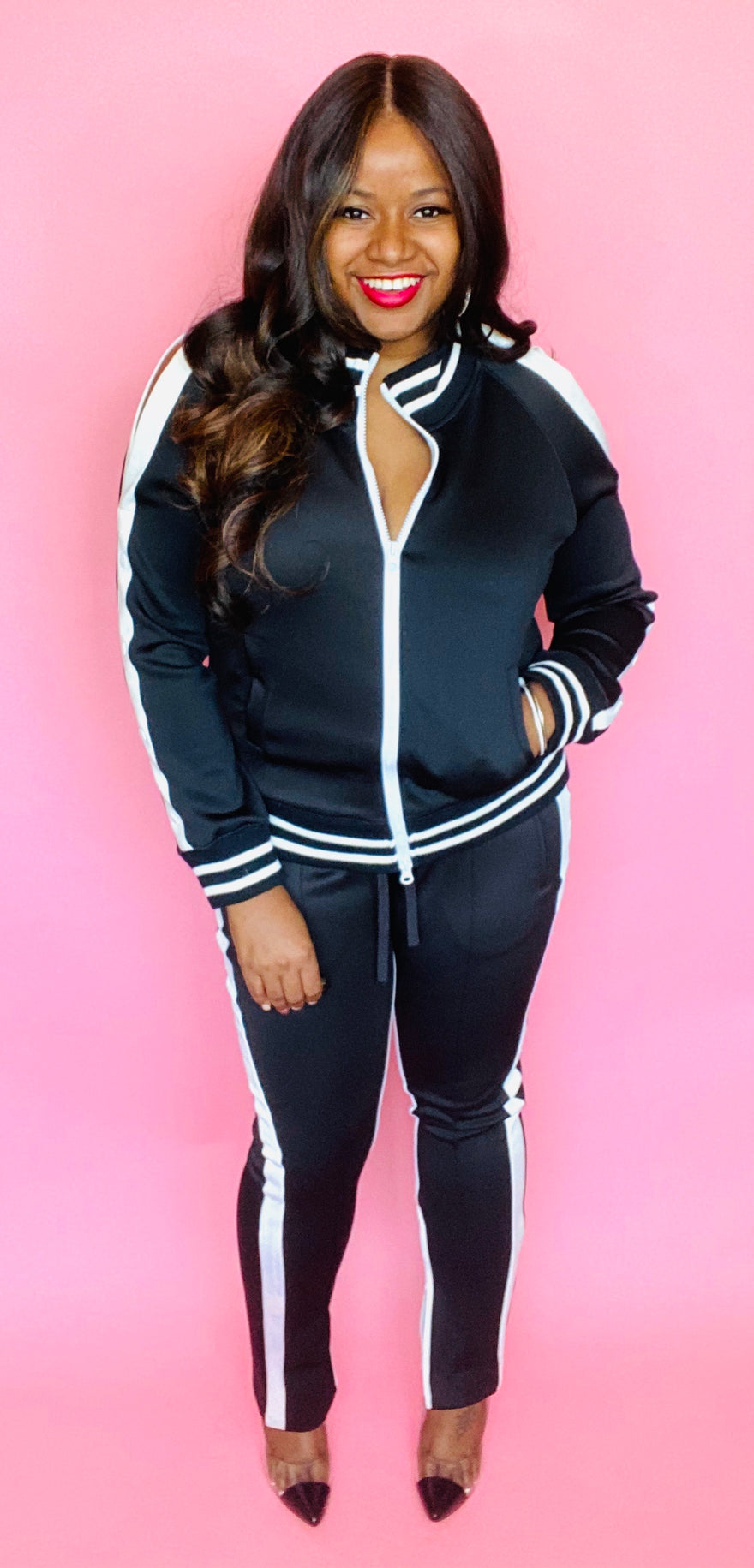 Cold Shoulder Tracksuit
