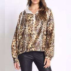 Leopard Swish Swish Wind Breaker