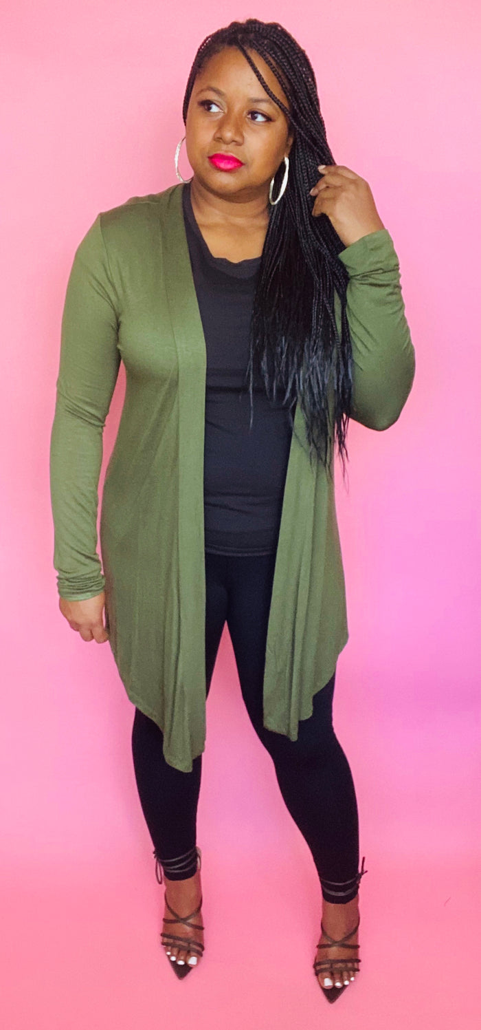 Essential Cardigan (Army Green)