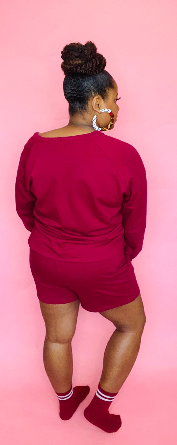Chill Shorts Set (Berry)