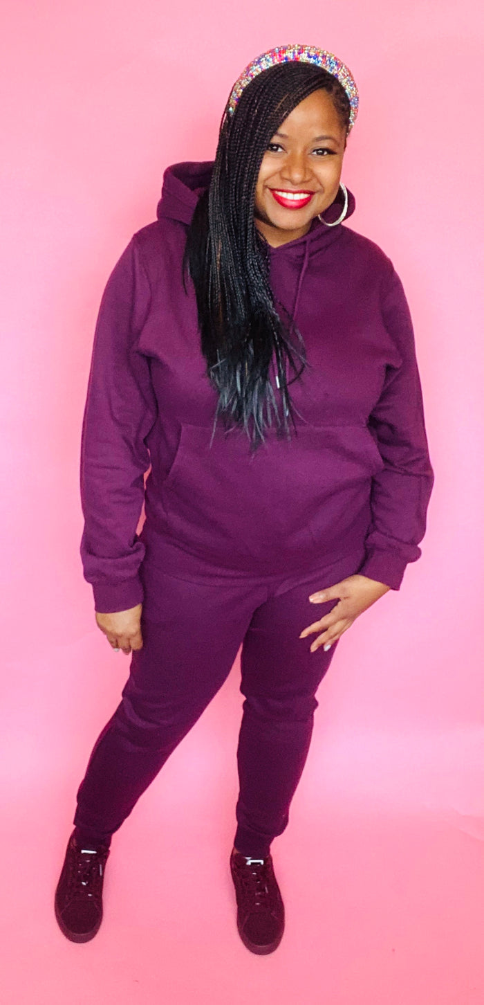 The Classic Sweatsuit (Plum)