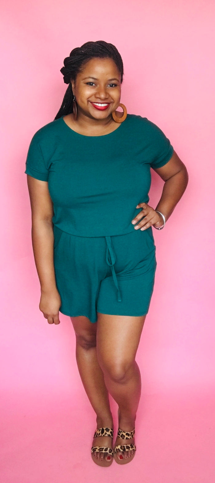 Summer Romper (Deep Green)