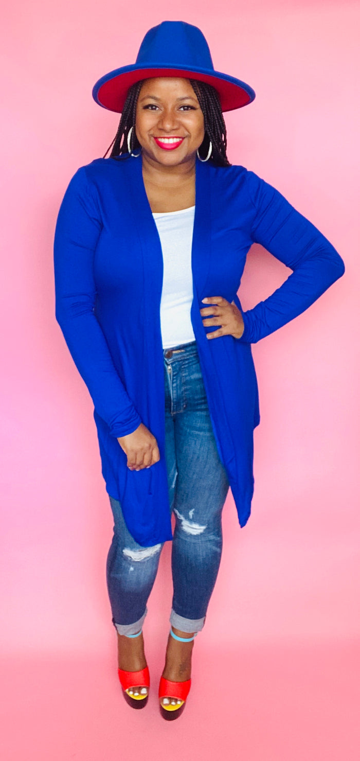 Essential Cardigan (Royal Blue)