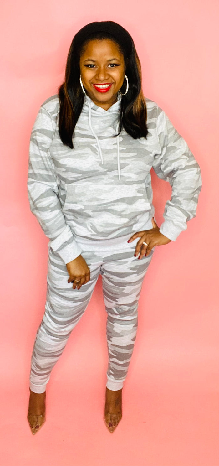 The Classic Sweatsuit (Lt Grey Camo)