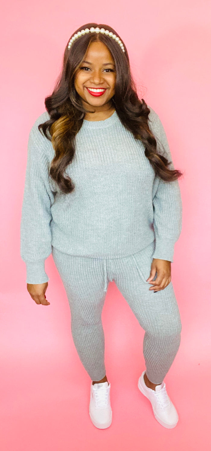 Celeste Sweater Set (Heather Gray)