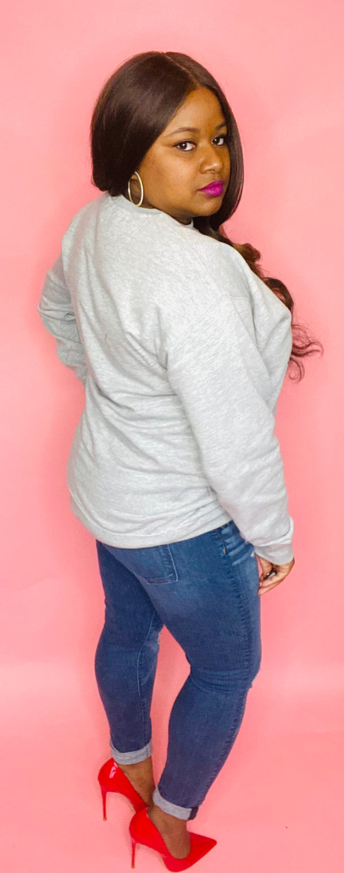 Love the Skin I'm In Sweatshirt (Heather Gray)