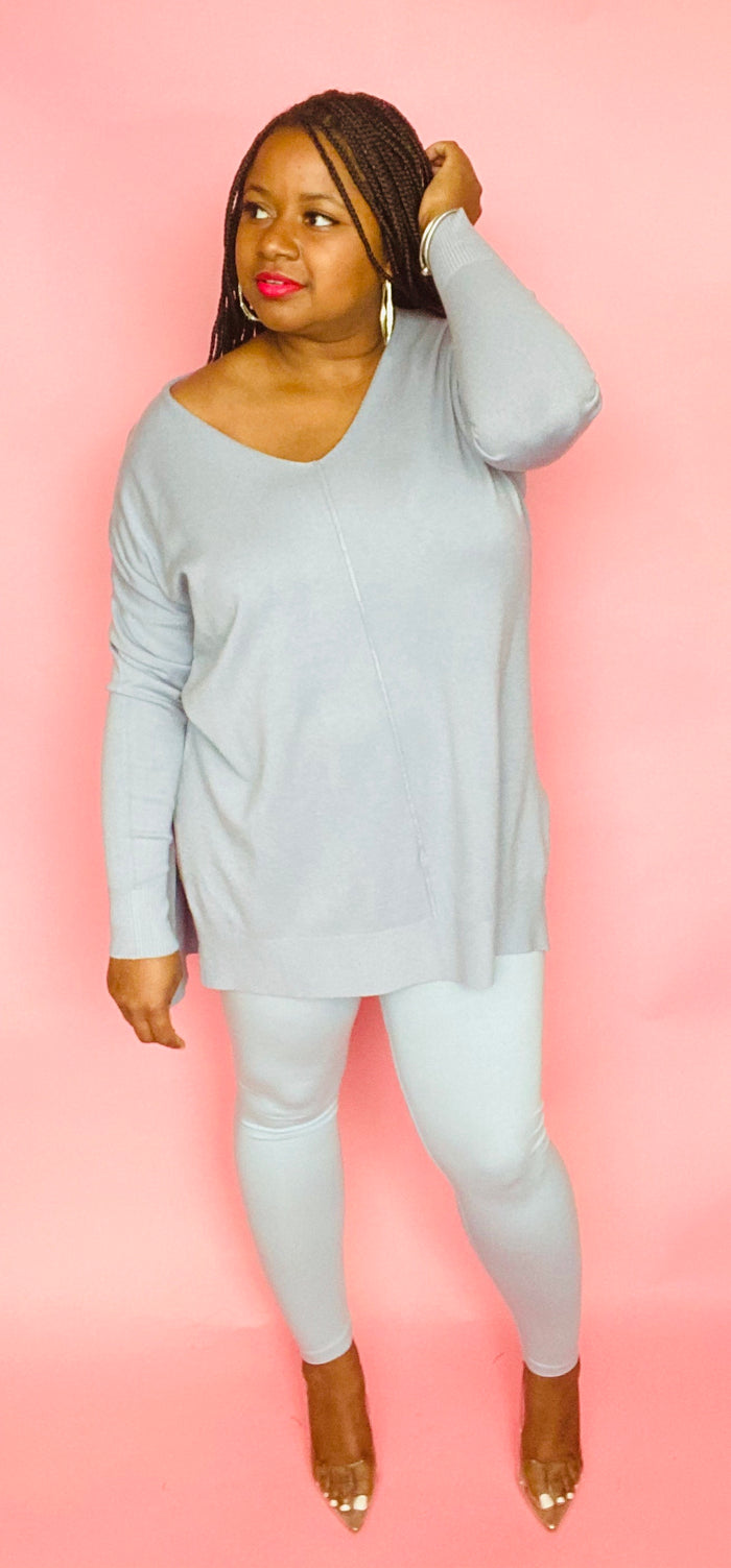 Sasha Sweater Set (Ash Blue)