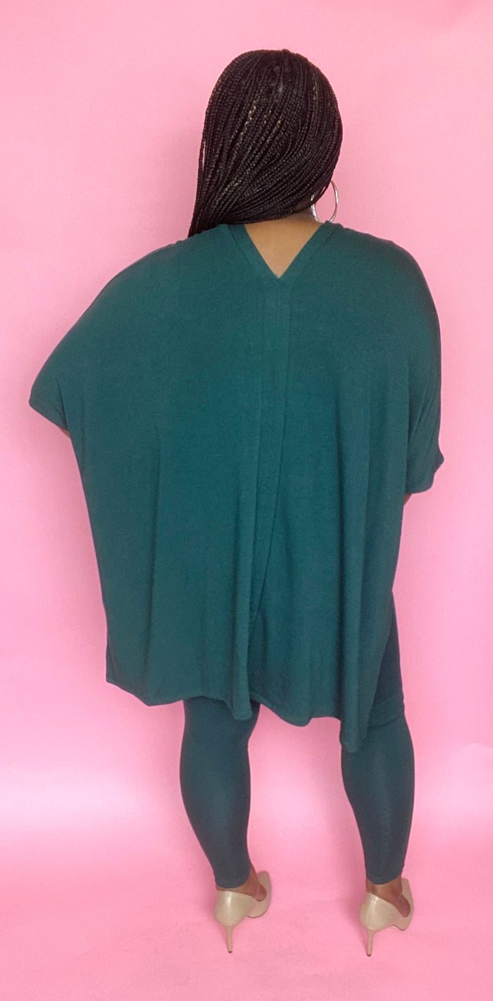 On The Go Poncho Set (Hunter Green)