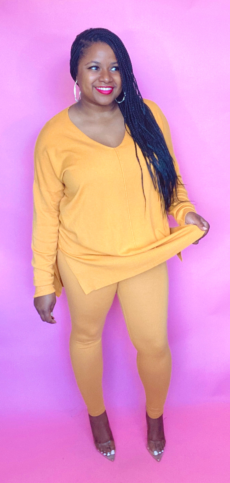 Sasha Sweater Set (Mustard)