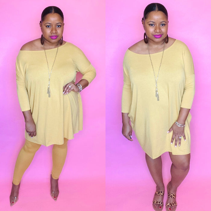 Everyday Set 3/4 Sleeve (Lt Mustard)