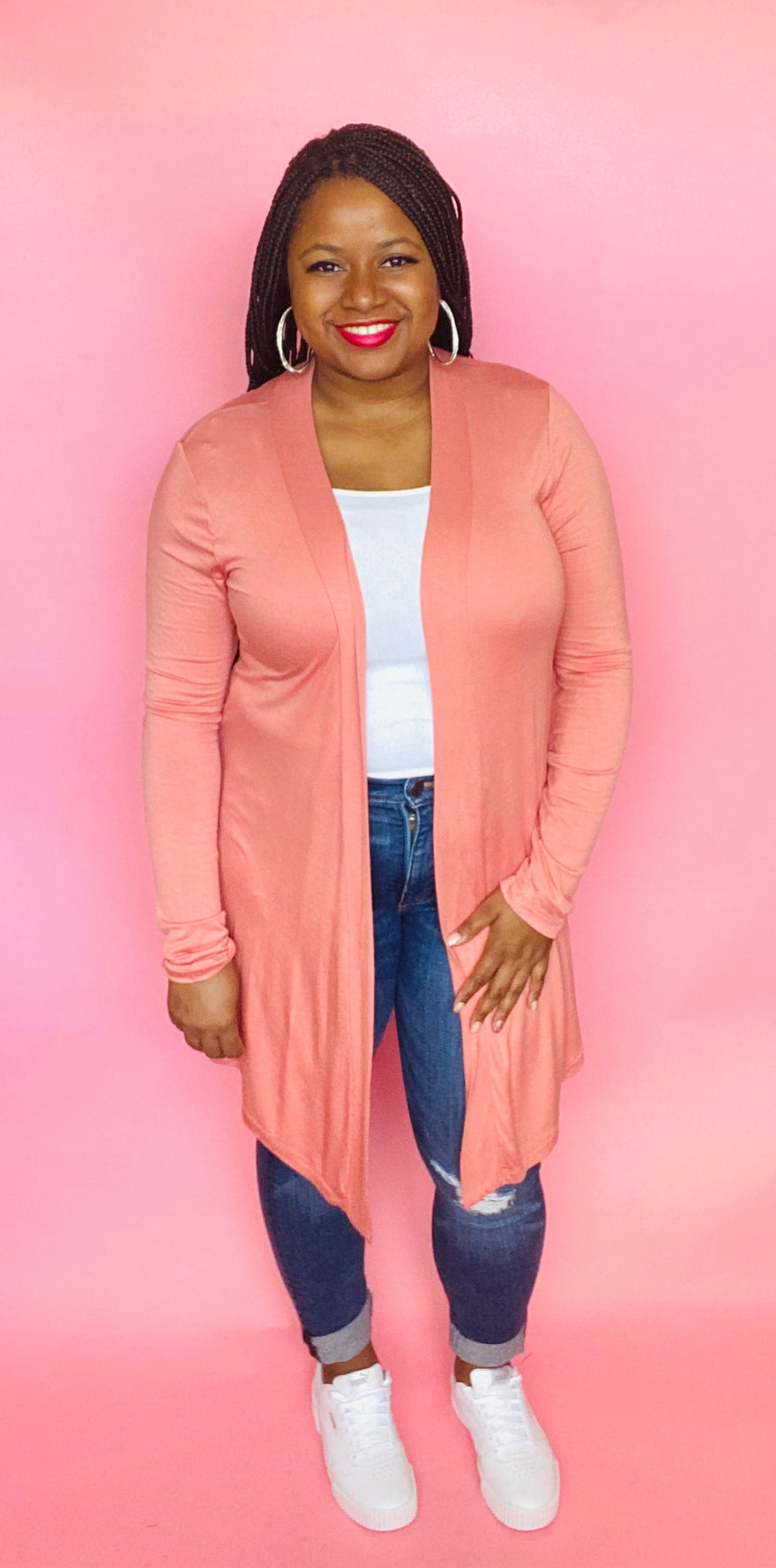 Essential Cardigan (Coral)