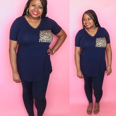 Leopard Pocket Set (Navy)