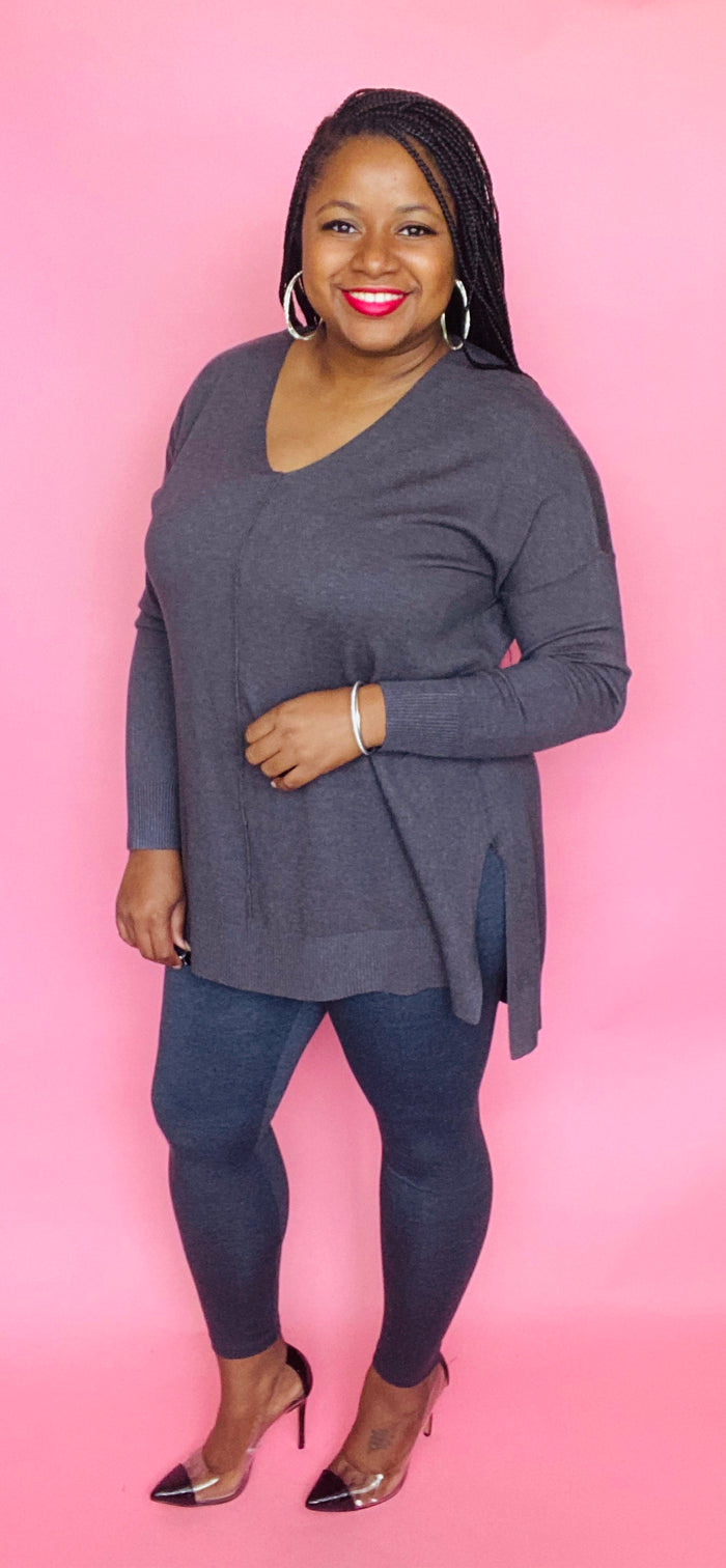 Sasha Sweater Set (Charcoal)