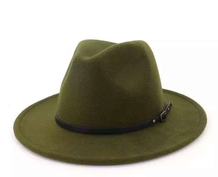 Red Bottom Hat (Olive)