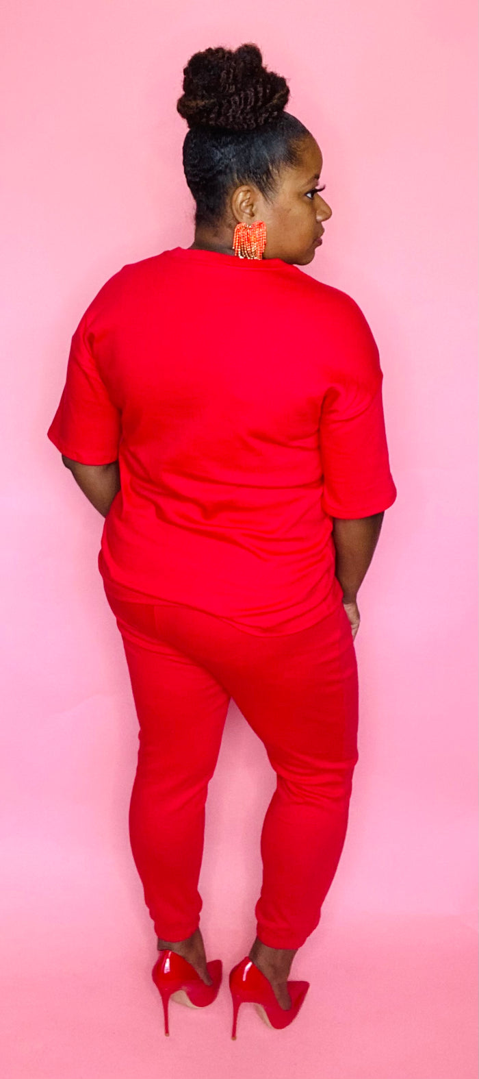 Jogger Lounge Set (Red)