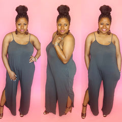 Casual Jumpsuit (Ash Grey)