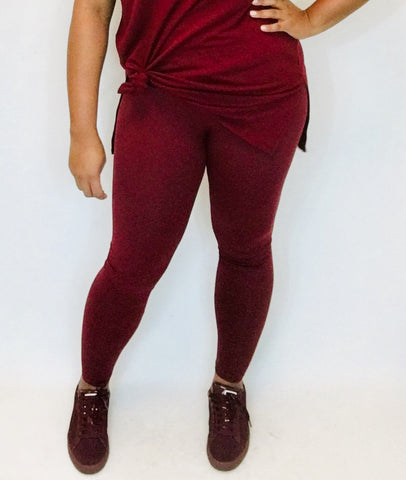 Burgundy Super Soft Leggings