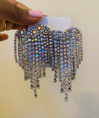 Heart Shaped Chandelier Earring